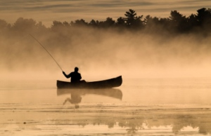 Fishing-for-Pike-from-a-Canoe